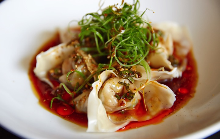 Kylie's Steamed Prawn Wonton's with Spring Onion, Ginger and Vinegar