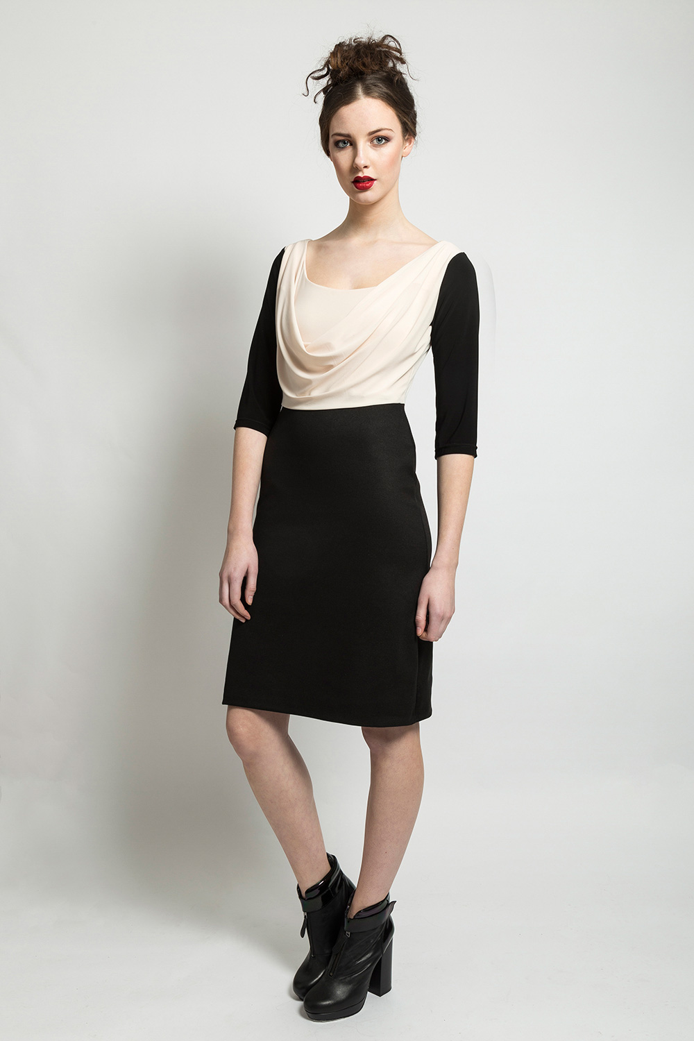 AW14-Cream-and-Black-Cowl-Dress.jpg