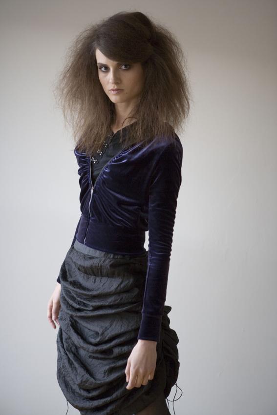 Y blue velvet jkt ruffle skirt23.jpg