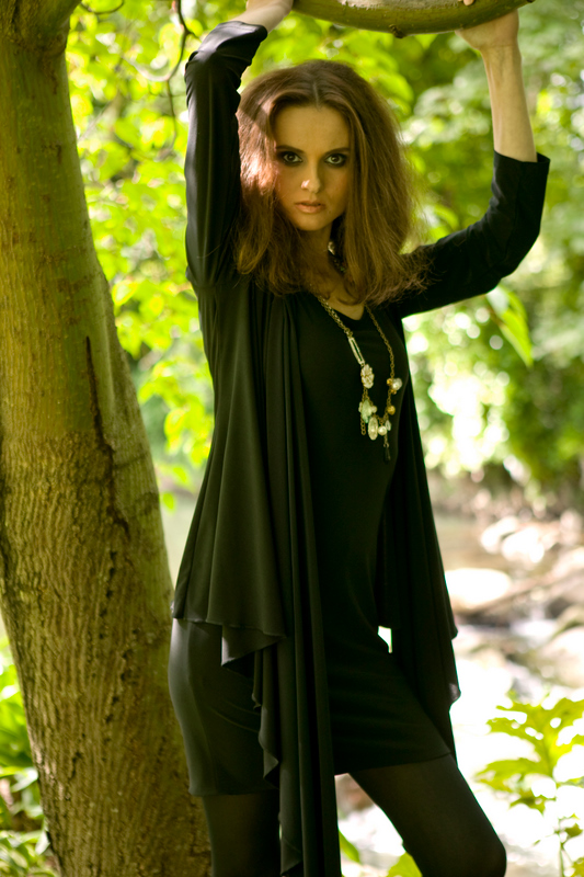 AW09 Jersey Drape Wrap with Jersey Tank Dress.jpg