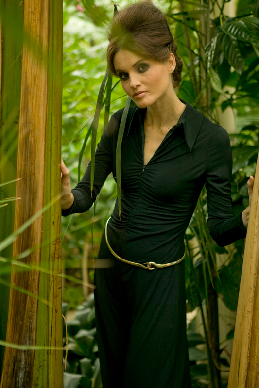 AW09 Black Jersey Gathered Zipped Palatso Jumpsuit.jpg