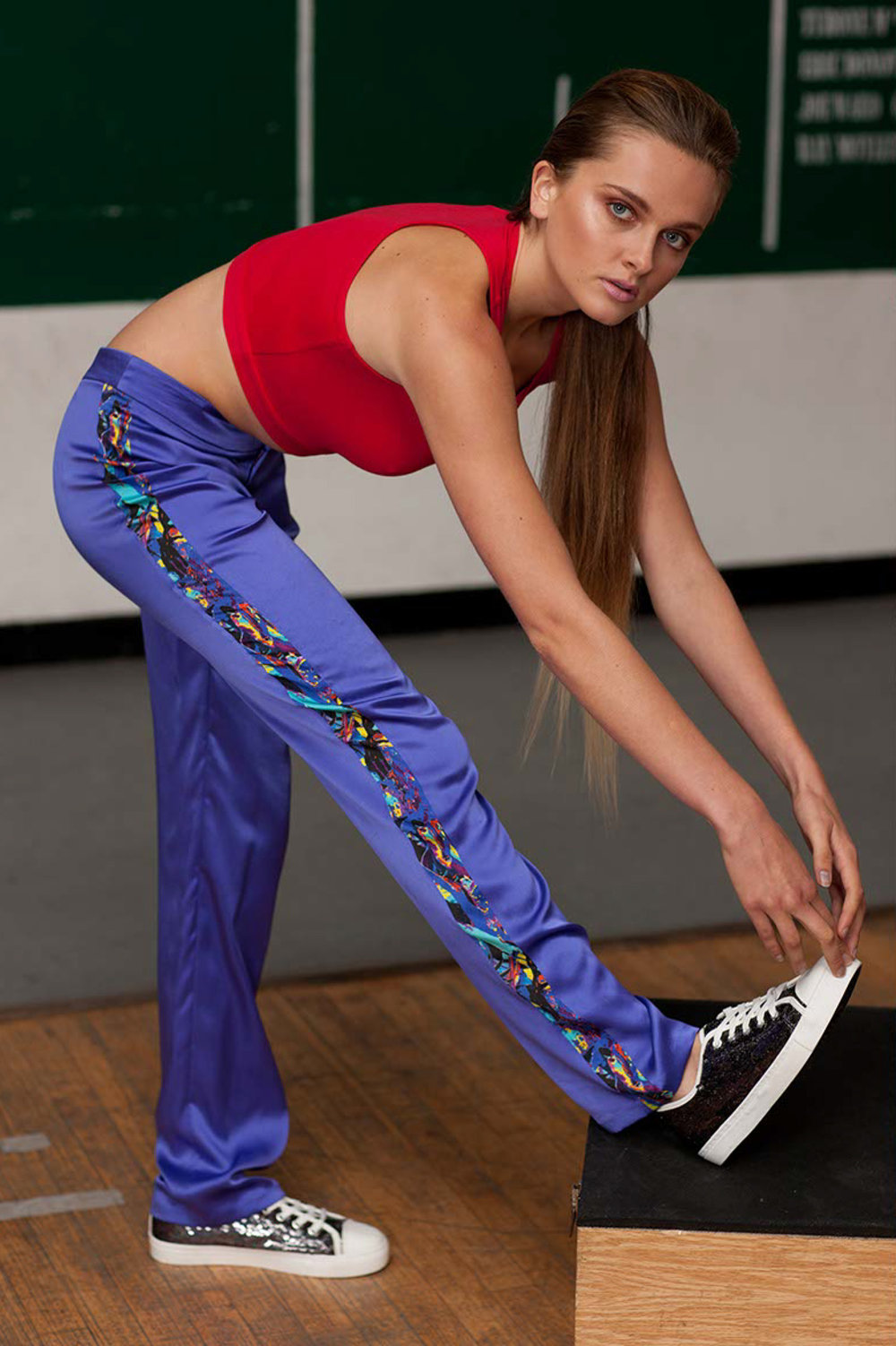 Crane-print-side-panel-tracksuit-bottoms---Red-jersey-crop-top--.jpg