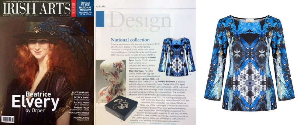 The National Museum of Ireland acquired 3 of Jennifer Rothwell's printed designs for their   Contemporary Design and craft Collection   .