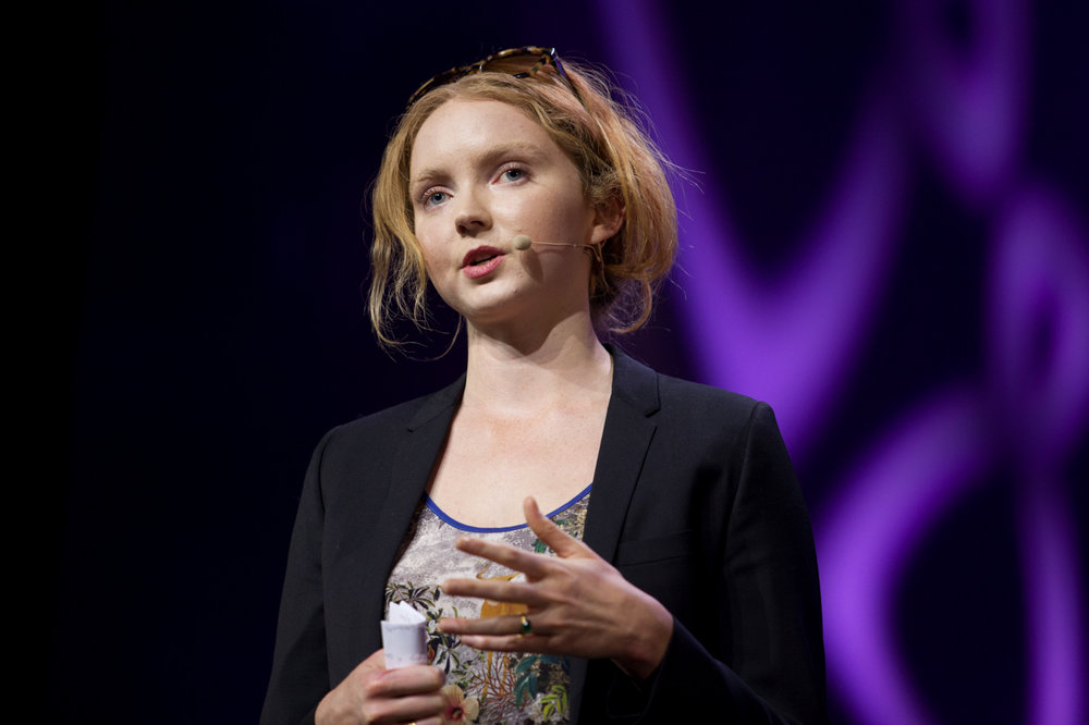 Lily Cole speaks at LeWeb conference