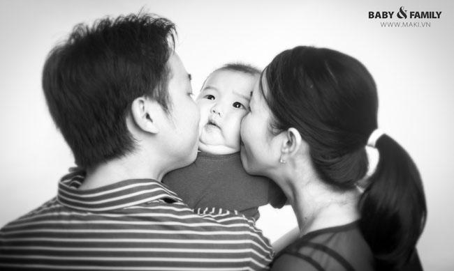 Hình ảnh gia đình thân mật. Ảnh: MAKI Baby