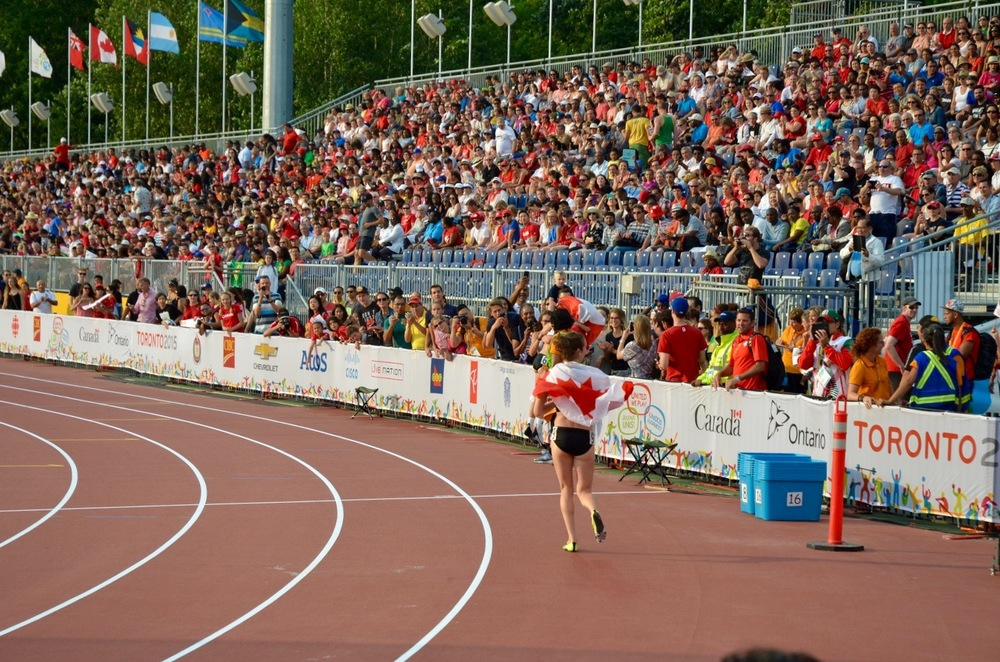 Pan Am Games victory lap