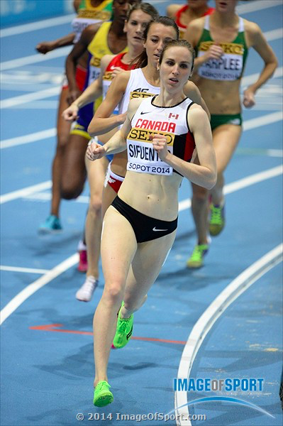 Competing at the World Indoor Championships in 2014