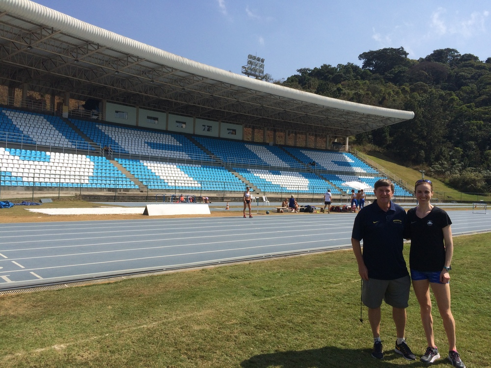 Me and Mike at the track in Juiz de Fora.
