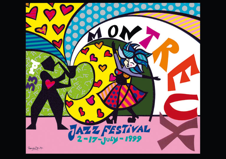 Montreux Jazz Festival Poster 1999 by Romero Britto