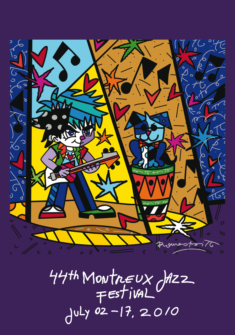 Montreux Jazz Festival Poster 2010 by Romero Britto