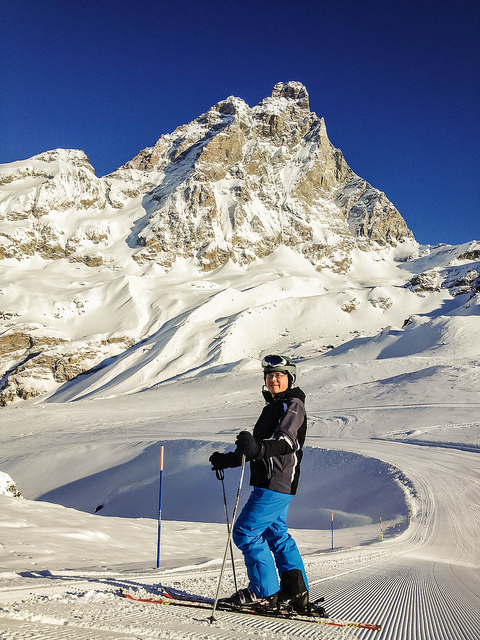 On the slopes in Cervinia