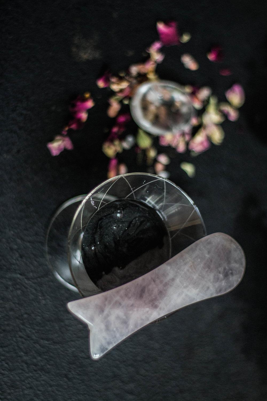 gua sha redskab krystal rosakvarts