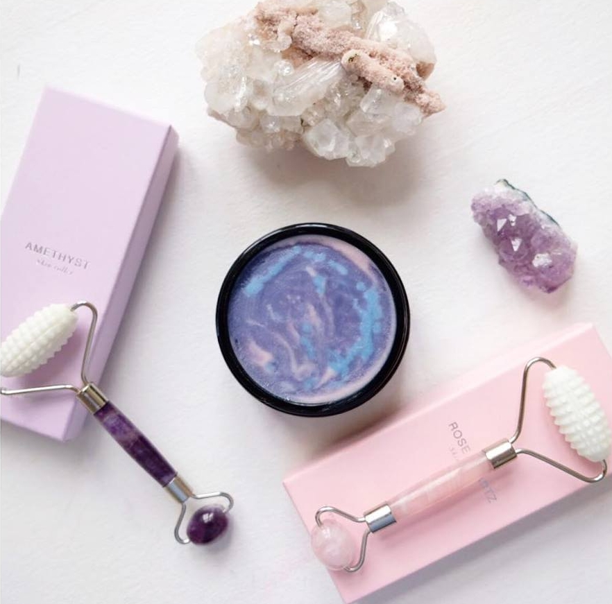 unicorn body balm multi colored recipe detox gua sha cellulite skin rollers amethyst rose quartz jade roller face roller