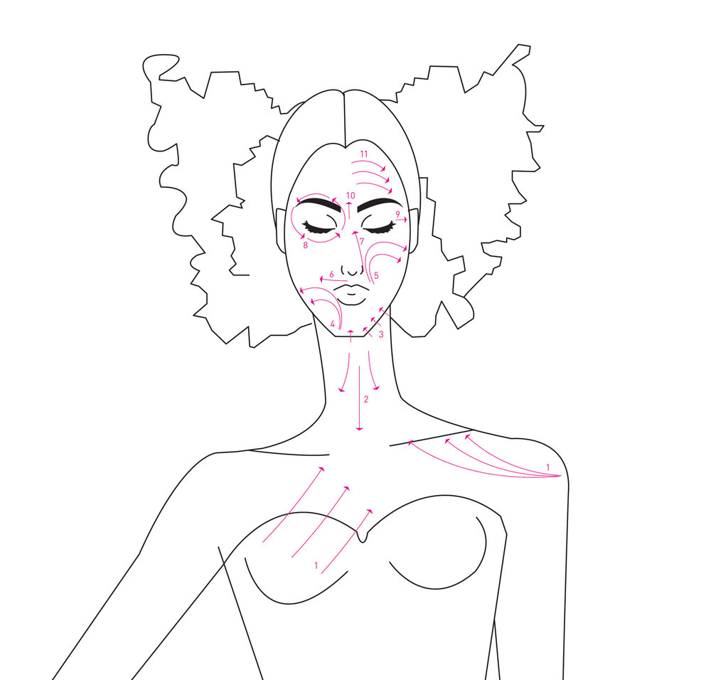 karmameju tørbørste ansigts