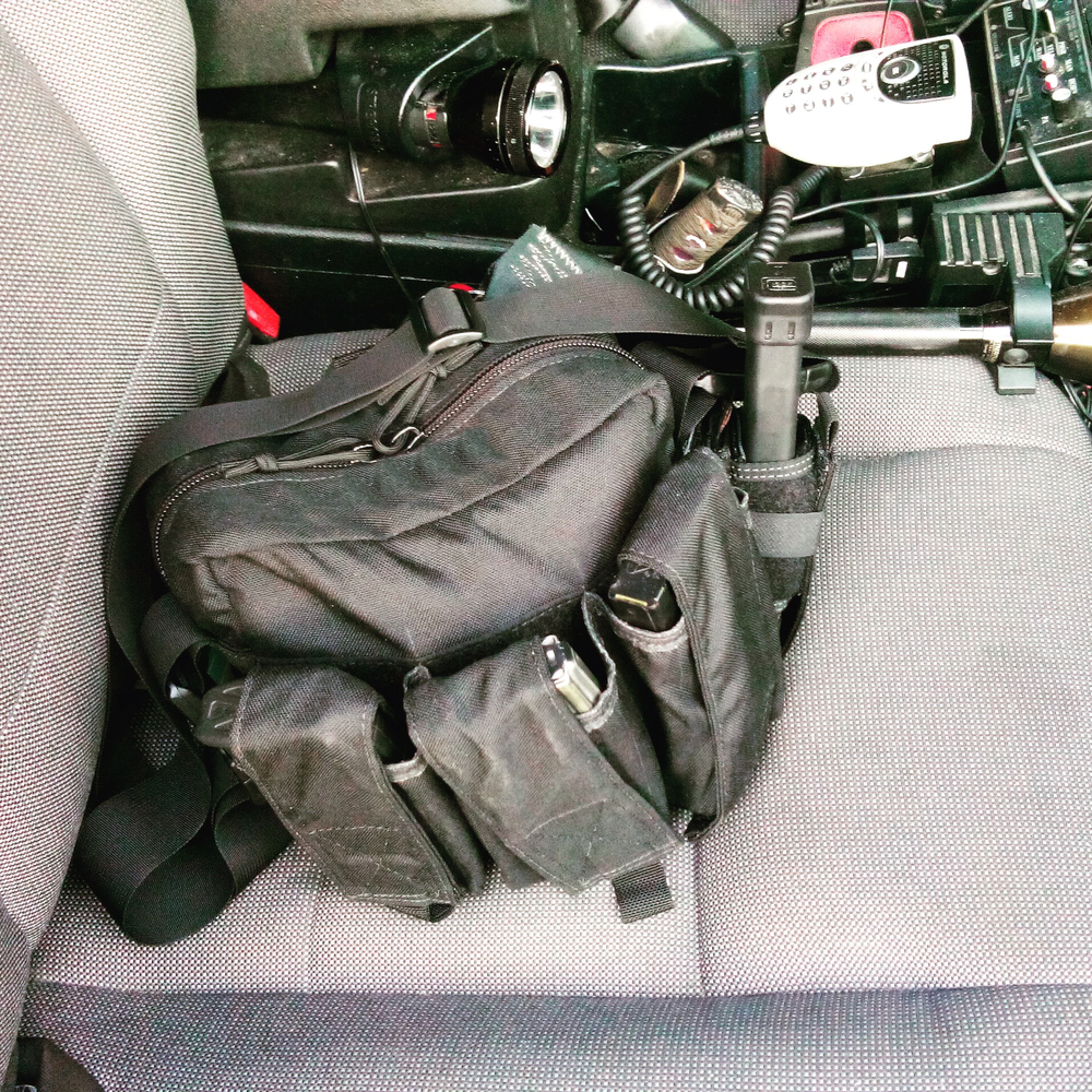 Active Shooter Bag In Patrol Car