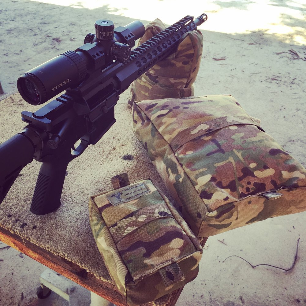 Rifle Rest Shooting Bag with AR15 - Wilde Custom Gear