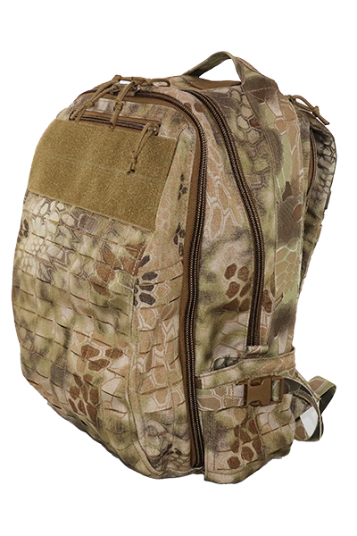 Wilde Custom Gear Laser cut MOLLE Backpack Front Angle.jpg