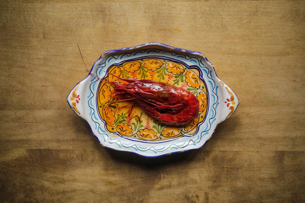 Bar Isabel - Carbinero shrimp a la planxa 02 - Photo by AJ Fernando 2017.jpg