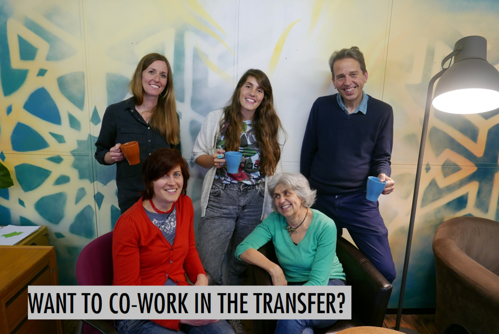 Why not co-work with Shannon, Patrick, Hannah,Jude and others in The Transfer co-working space   ?