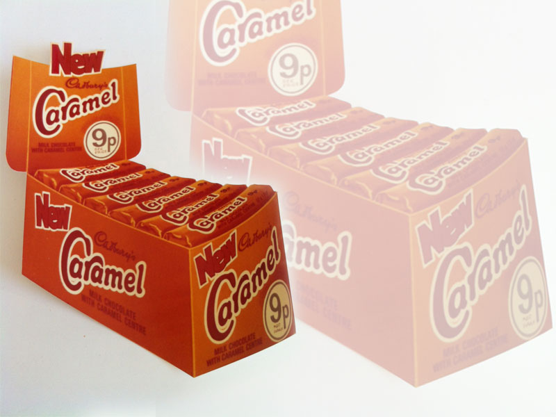 Cadbury Caramel, photo of display mock up