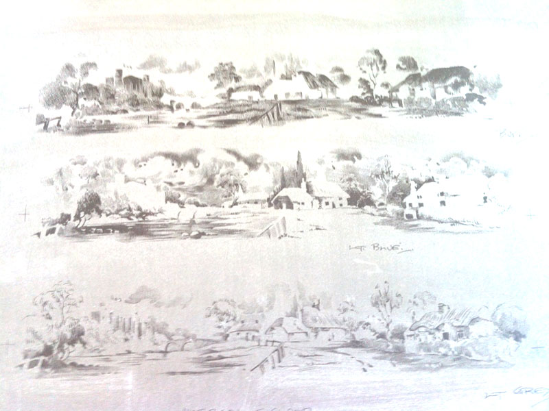 Landscape image, detail of litho-plate