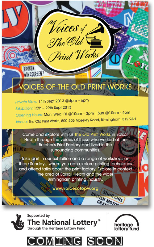 Voices of the Old Print Works 2013 Heritage Exhibition