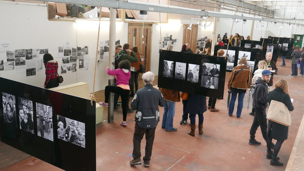 The Upper Gallery during Ort Gallery's recent 'Ghost Streets of Balsall Heath' exhibition -