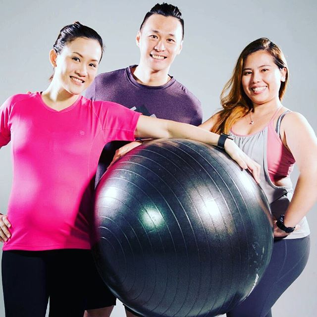 Pregnancy video shooting for Nestle with our 5-months pregnant model  Fen Ning and Discovery Pilates Studio Physiotherapist Dina Olid