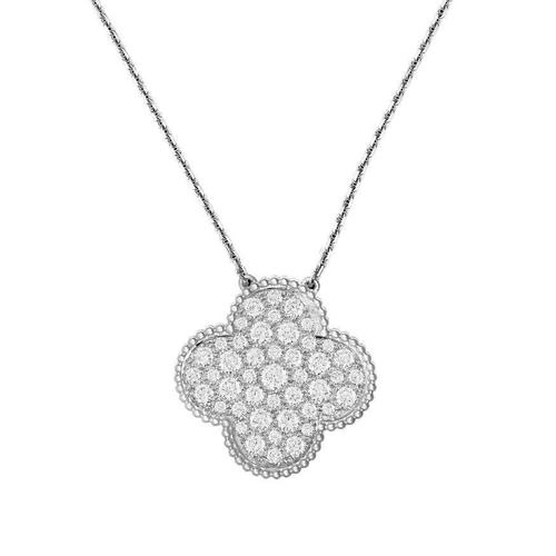 Van cleef arpels magic alhambra large diamond clover pendant her van cleef arpels magic alhambra large diamond clover pendant mozeypictures Gallery