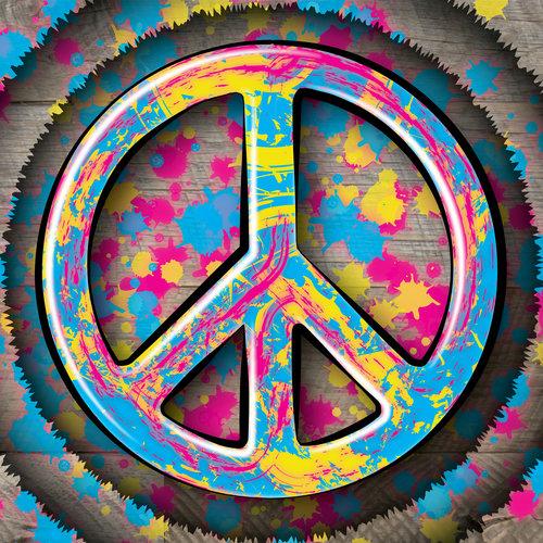 Peace Symbol Splatter Heart Your Walls