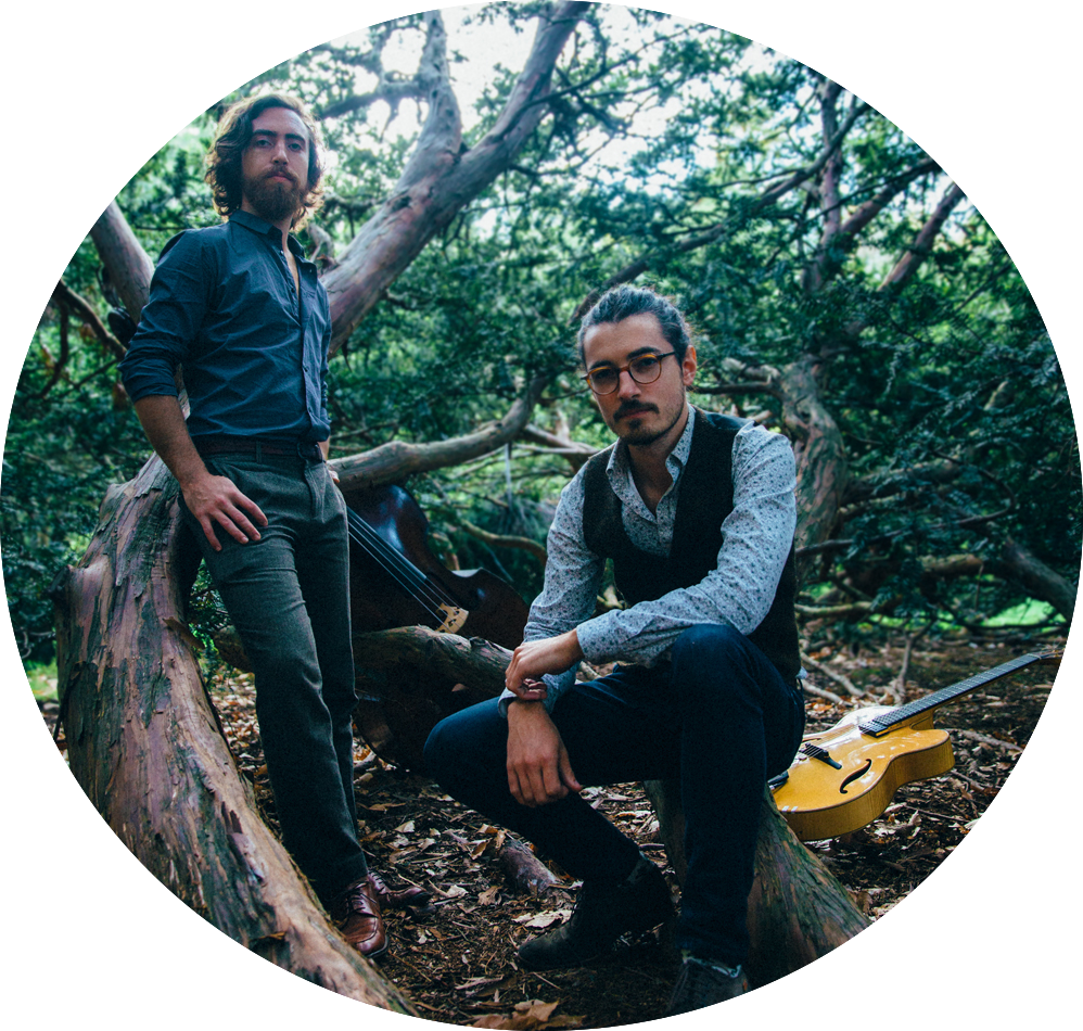 The duo of Rob Taylor (bass) and Jacob Matheus (guitar) set out to explore collaborative composition with talented singers and songwriters. In the form of a music video series, the barrenOaks traverse a world of story and song with their artistic companions.