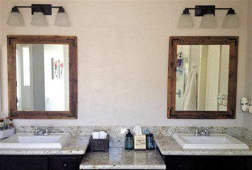 30 x 36 Wood Framed Mirror Pair - Handcrafted With Reclaimed Wood ...