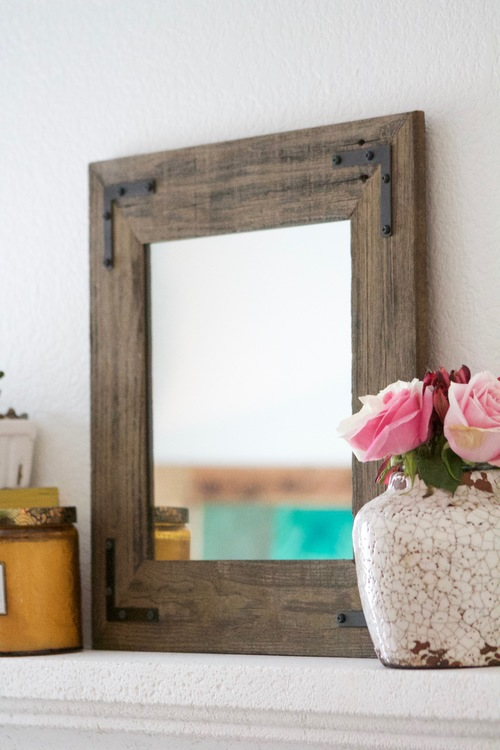 18 x 18 Framed Mirror Handcrafted With Reclaimed Wood — Hurd & Honey