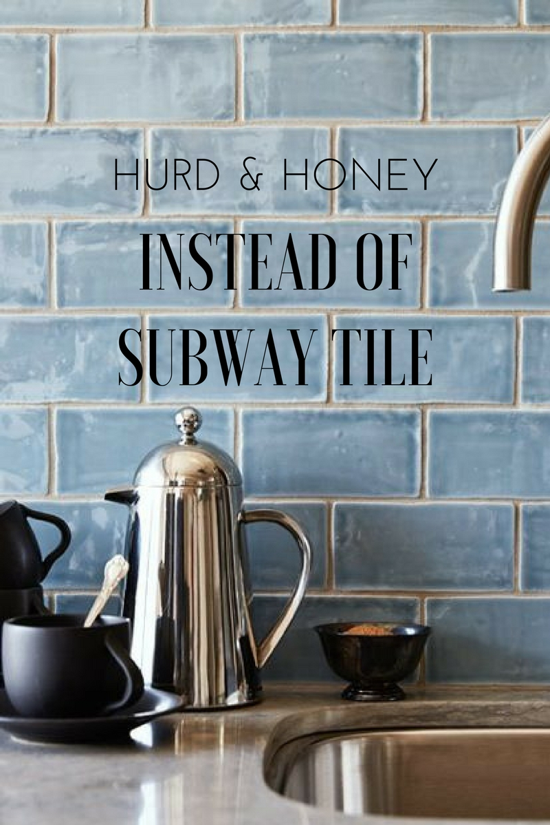Instead Of Subway Tile Kitchen Backsplash Ideas Hurd Honey