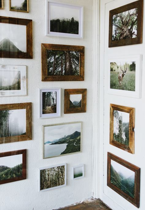 We love how this gallery is on both walls.