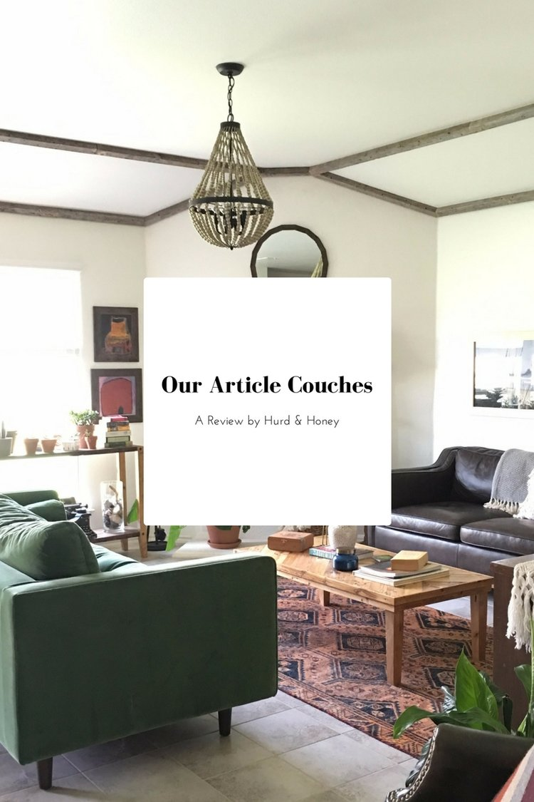 You Asked About Our Green Couch - A Review on Our Article Furniture ...