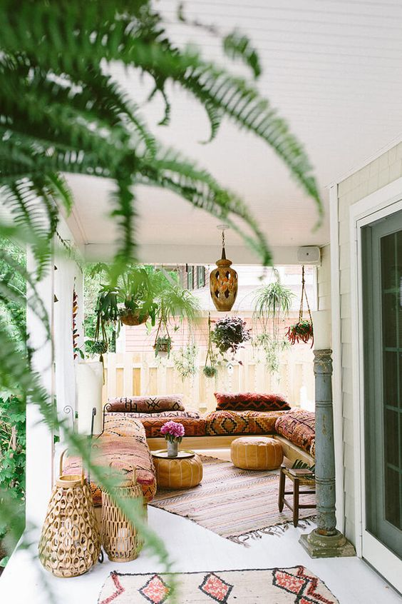 Even A Tiny Porch Can Be Cozy And Inviting. A Few Plants, Natural Elements,  And A Place To Sit Will Make A Difference.
