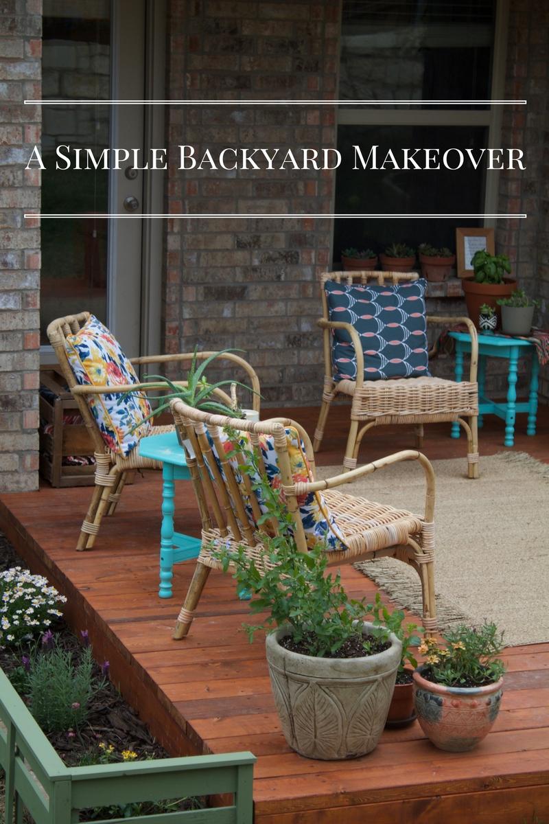 a simple backyard makeover u2014 hurd u0026 honey