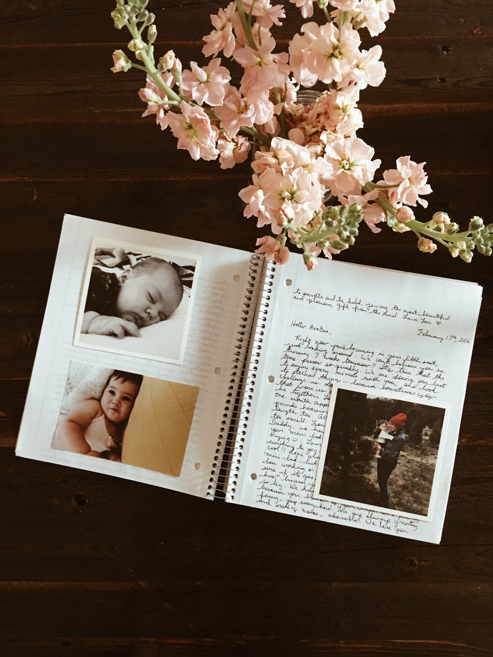 How I plan on adding photos to the journal eventually.