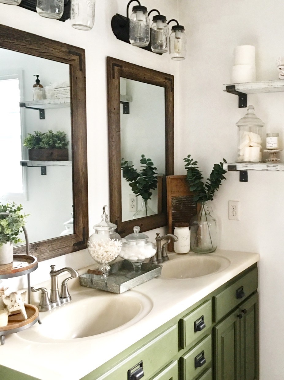 "Hurd & Honey Mirrors In The Home of ""The Little White Farmhouse"" Via Instagram"