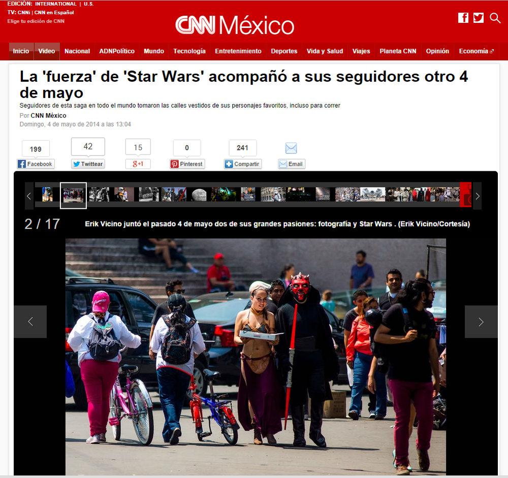 Las primeras 5 fotos del reportaje (fueron) cortesía de su servilleta. Desgraciadamente el artículo ya no se encuentra en la página de CNN.