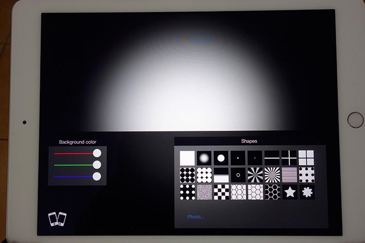 Додаток Photo Light HD (SoftBox) містить 24 пресети візерунків