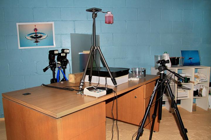 Установка 2 - камера під достатньо низьким кутом, щоб вловити відображення правильно