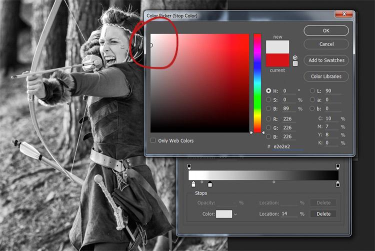 Виберіть колір відповідний до тонів, які ви бажаєтезмінити в фото