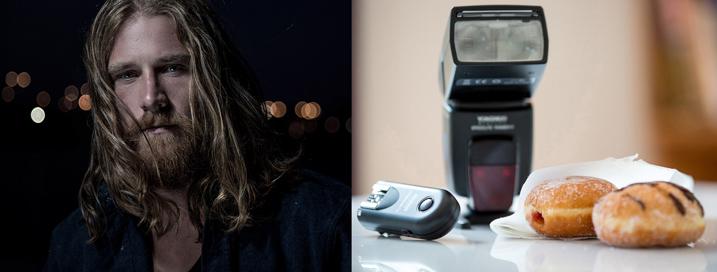 Зйомка актораLuke Deslandes за допомогою домашньогомодифікатората освітлювальної техніки, що коштувала менше за $200