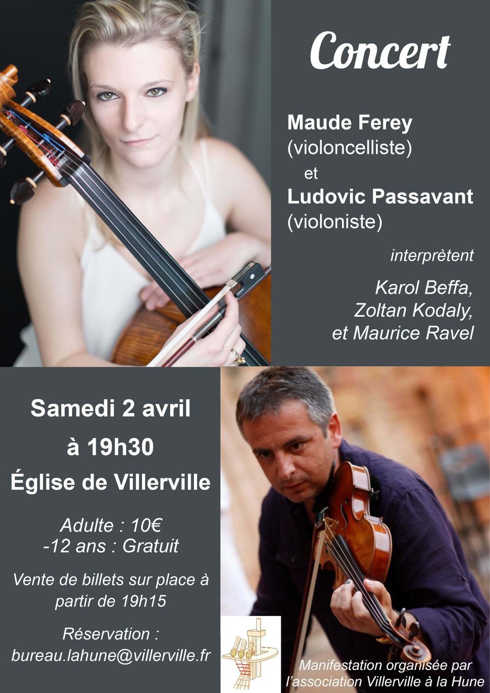 Ludovic Passavant, violon & Maude Ferey, violoncelle