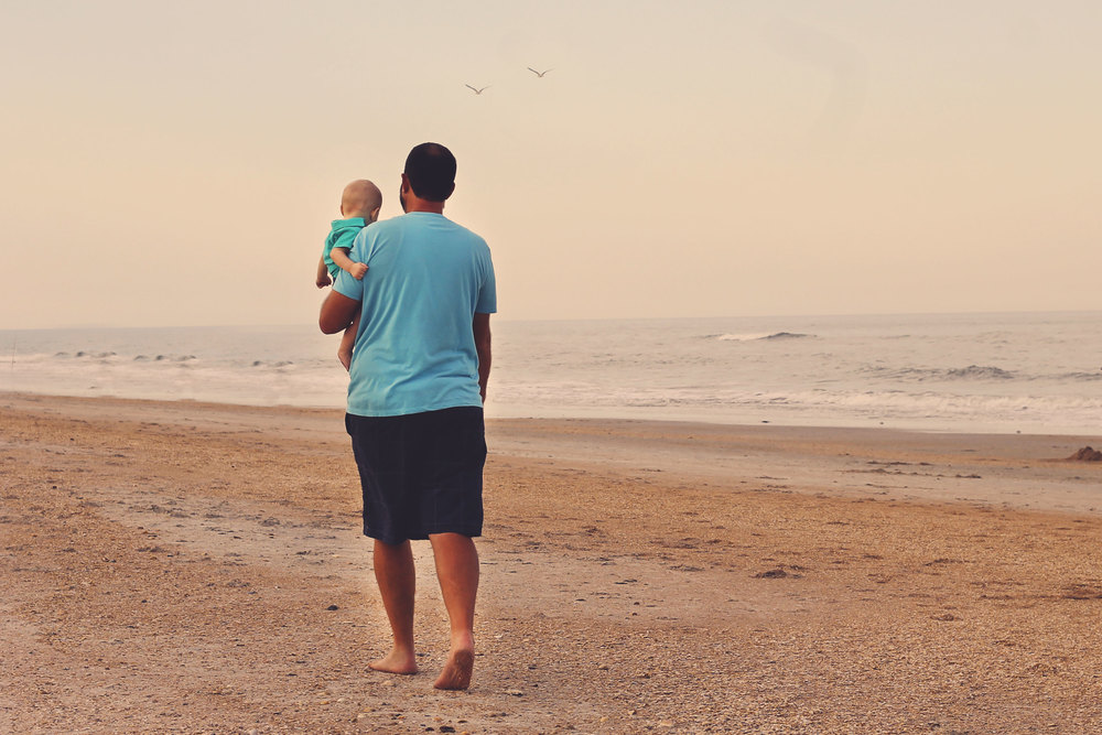 St Augustine Beach Daddy and me photo session