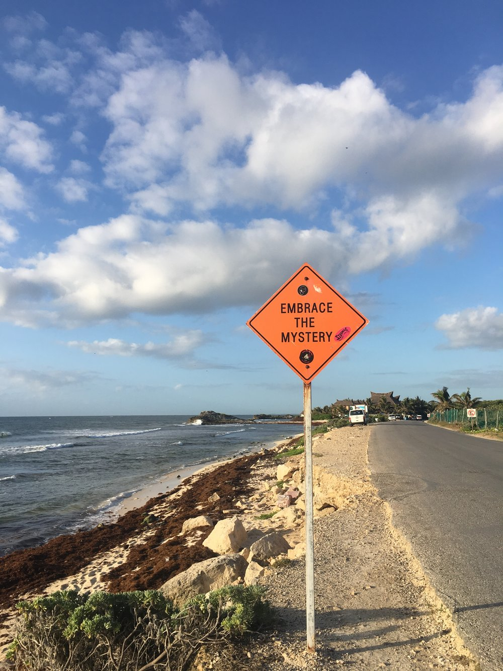 I loved the inspirational signs along the Tulum beach road.