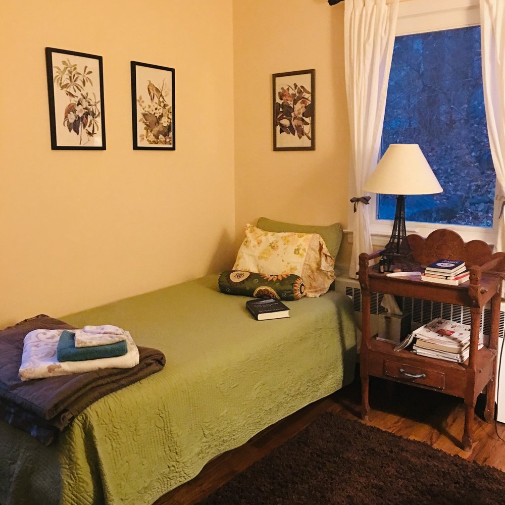 My cute AirBnB room. Nothing fancy, but it did work magic!