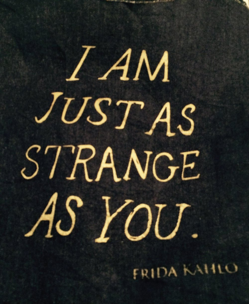 I Am Just As Strange As You shirt design